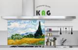 주방아트보드키친아트갤러리(명화) 고흐-삼나무가 있는 밀밭길(small사이즈)