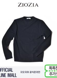 (지오지아/ZIOZIA) 톤온톤믹스 포인트 스타일 면혼방 스웨터(ABX1ER1101/네이비)
