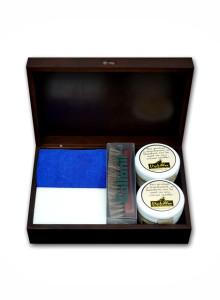 덕스왁스 (DucksWax) 200ml + 콜로닐 말털 브러시 + 콜로닐 클래식 브라운 원목 박스 선물 패키지 (스펀지 2개 + 타월 1개 +사용 설명서 1개 무료 증정)
