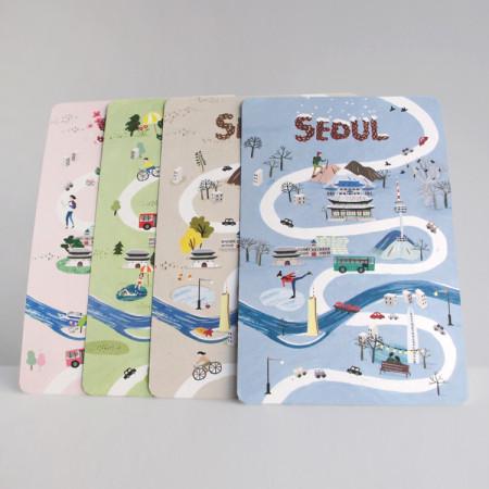 한국 기념 선물 | 서울 풍경 엽서 시즌 Ⅱ - 사계절