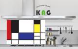 주방아트보드키친아트갤러리(명화) 몬드리안-빨강,파랑,노랑의 구성