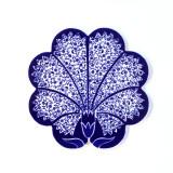 터키타일 냄비받침_blue tulip