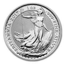 [국제금거래소] 2017년 영국 브리타니아 1온스(31.1g) 은화 - 캡슐별도구매
