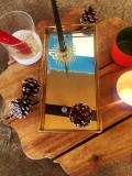 [KT&G 상상마당 디자인스퀘어] Box mirror gold / 골드 미러 트레이