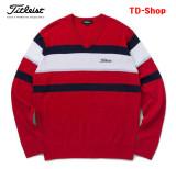 타이틀리스트 남성 골프웨어 브이넥 니트 웨어 스웨터 신상 남자 골프의류 TSMK1761 티디샵
