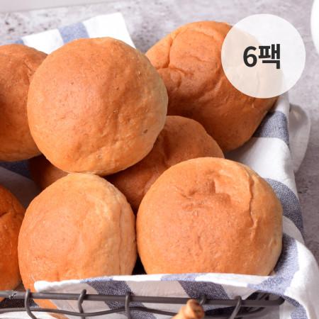 바디닭 오직통밀 모닝빵 6팩
