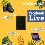 HDMI to USB 3.0 캡처/kongcast33/1080P/USB3.0/DSLR/페이스북라이브/고품질의 영상을 쉽게~