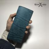 [누비레더] 수제 푸에블로 슬림형 장지갑