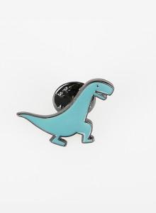 ※재입고 [핀뱃지] 민트 공룡 뱃지 Mint Colored Dinosaur Badge.