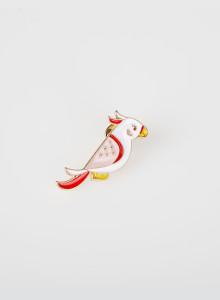 ※ 재입고 [핀뱃지] 핑크 앵무새 뱃지 Pink Color Parrot Badge