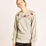 [TheKstory] Needlework sweatshirts_KHAKI