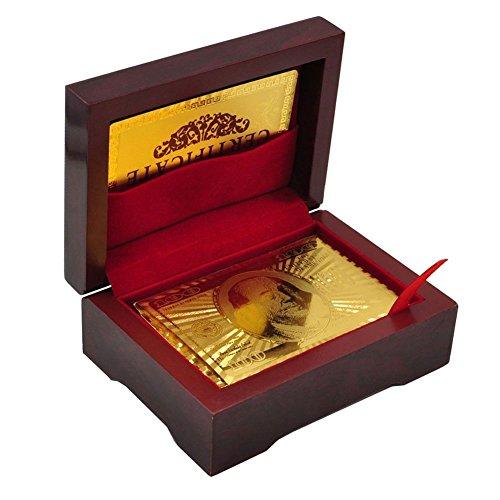 트럼프 LLF 럭셔리 24K Gold Foil 포커 플레잉 카드 덱 Carta de Baralho with 박스 Good Gift Idea : 홍길동 - 네이버쇼핑