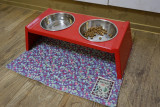 핸드메이드 강아지 고양이 식기매트 - 누빔지