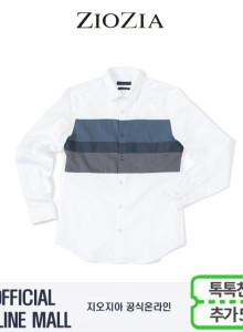 (지오지아/ZIOZIA) SATIN소재 가슴배색 포인트 캐주얼셔츠(AAW3WC1105/화이트)