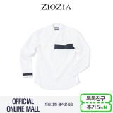 (지오지아/ZIOZIA) CPSPAN 가슴배색 포인트 캐주얼 차이나셔츠(AAW3WC1101/화이트)