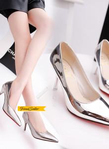 [해외]봄구두 스틸레토힐 하이힐 펌프스 데일리슈 높은 굽 신발은 신발의 기질 봄 2017 새로운 얕은 입 좋은 신발 섹시한 신발 패션 신발을 지적