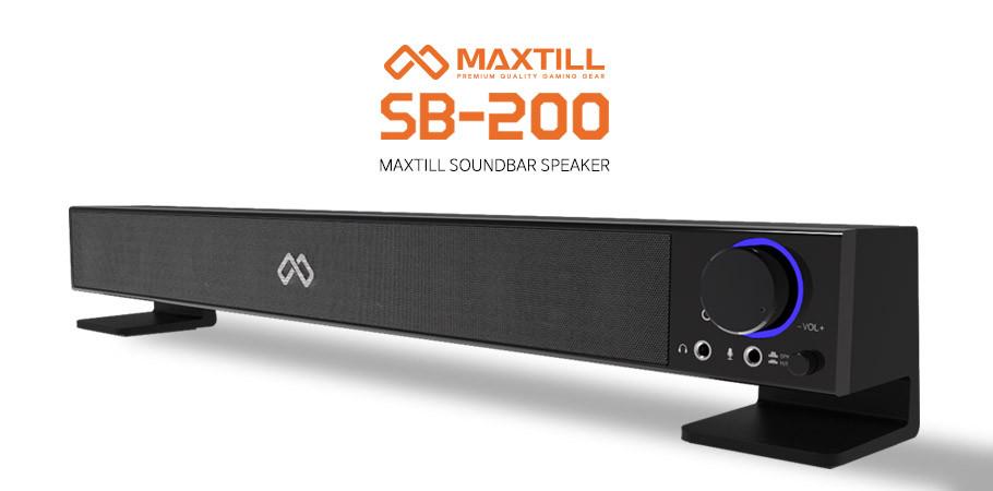 맥스틸 SB-200 사운드바 스피커 2CH USB/AC전원 PC방