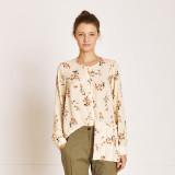 [TheKstory] Flower pattern blouse_CREAM