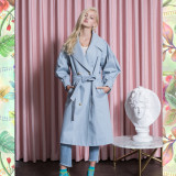 Signature Bold Puff Trench_BLUE