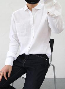 베이직 린넨 무지 셔츠 5color