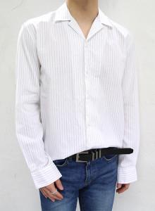 프리미엄 스트라이프 파자마 셔츠 2color
