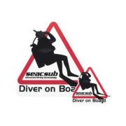 스쿠버 다이빙 스티커 :: Diver on Board
