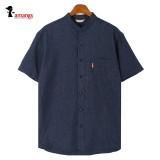 빅사이즈 남성 차이나카라 반팔 셔츠 733-734 남방