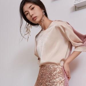 블리다 [VLEEDA] peach half blouse