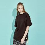 디바이디그낙 Banding Lace-Up Sweat Shirts BK