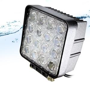오프로드 완벽 방수 LED 써치라이트 48W 12V 24v 집중형 : 비펙몰