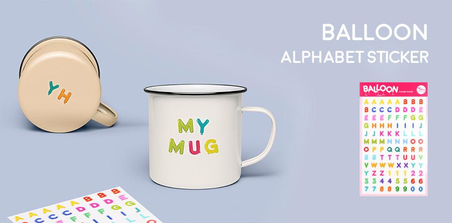 Balloon Alphabet Sticker - 풍선 알파벳 스티커