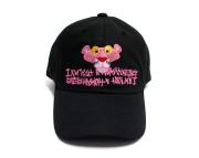 핑크팬더X휴먼비잉 페이스 볼캡 블랙 ([PPXHB] Pink Panther Face Ball Cap - Black)