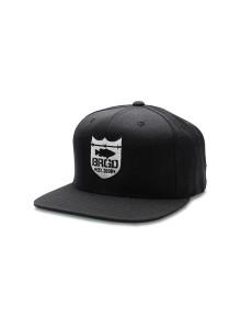 배스브리게이드 BASSBRIGADE BASS BRIGADE SHIELD LOGO SNAPBACK HAT - BLACKWHITE