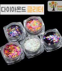 하나쭌 다이아몬드 마름모 네일 글리터 23종