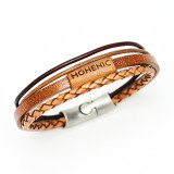 MOHENIC LEATHER BRACELET / 모헤닉 가죽 팔찌