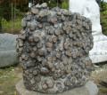 청송꽃돌 정원석 조경석 황장미석 53x23x54cm 무게 70kg