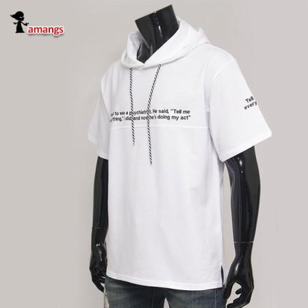 남자 반팔후드티 soul176 빅사이즈 여름 후드 티셔츠