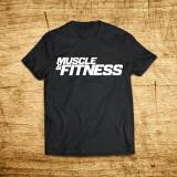 머슬앤피트니스 로고 티셔츠