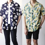 남자 여름 알로하 하와이안셔츠