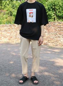 키링백 박스핏 티셔츠 (Black/White)