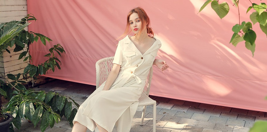 와드로브 ROBE SHIRTS ONE-PIECE_IVORY