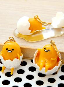 구데타마 3D 마스코트 피규어-스트랩/핸드폰 열쇠 고리/일본 산리오 정품 캐릭터