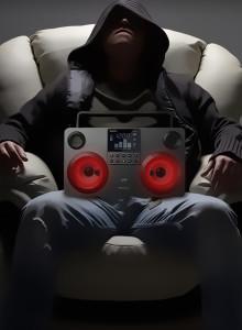 에스디지털 코만도 LED 라이트 붐박스 라디오 블루투스 스피커