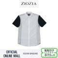 (지오지아/ZIOZIA) 배색조직 몸판 블러킹 포인트 캐주얼 셔츠(AAX2WC1201/화이트)