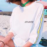 오프화이트 여자 반팔티셔츠 4color