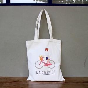 자전거소녀 에코백