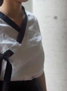 철릭저고리 린넨썸머 셔츠 저고리 (화이트)