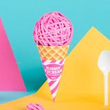 아이스크림 고무밴드 (핑크/그린/퍼플)