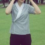 여성 반팔 셔츠 저고리 스트라이프 철릭 생활한복 저고리