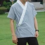 반팔 남성 셔츠 저고리 스트라이프 철릭 생활한복 저고리